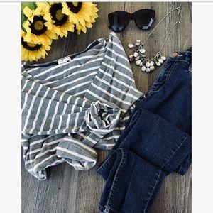 Honey and thyme striped XL women's shirt